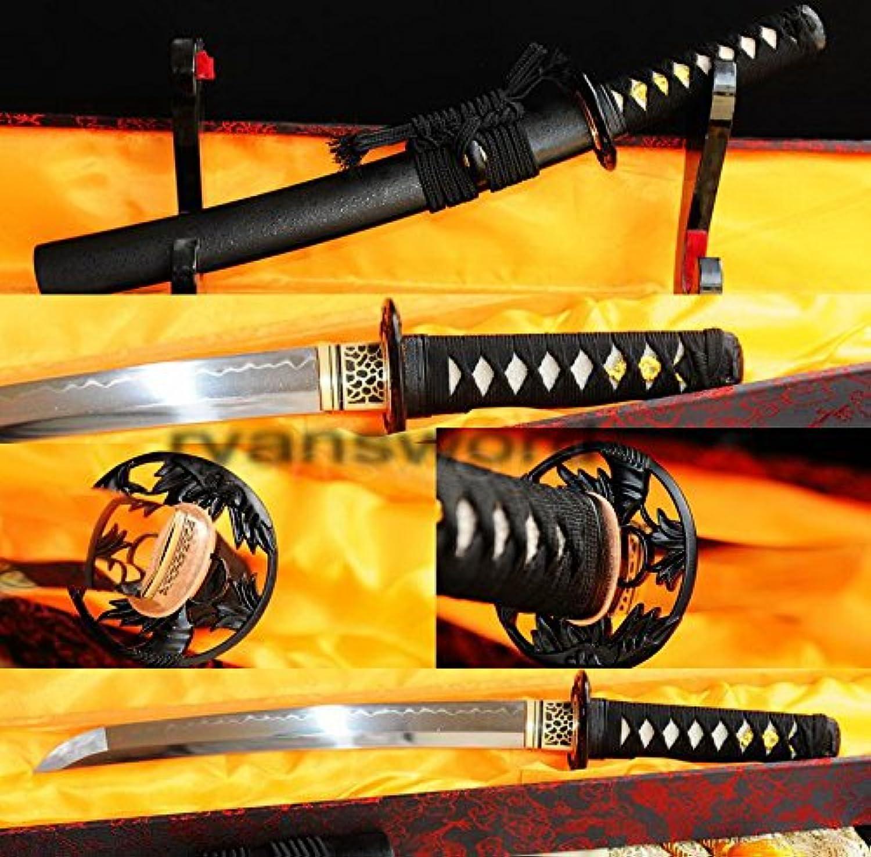 Handmade Clay Tempered 1095 Carbon Steel Japanese Samurai Tanto