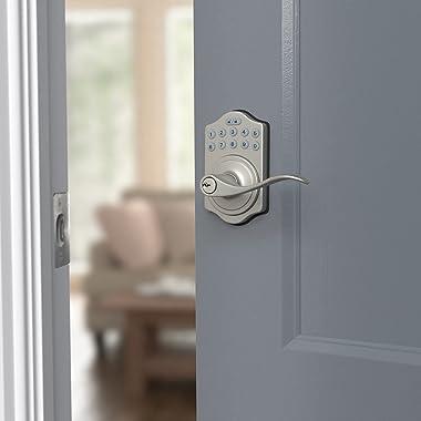 Amazon Basics Electronic Keypad Entry Lever Door Lock - Satin Nickel