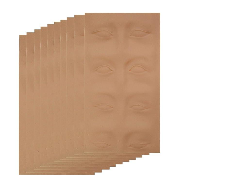 不快無傷自動アートメイク 入墨 タトゥ メイク 練習 シートマット 眉タトゥー 練習ゴムシートアートメイク材料 眉 (1枚~10枚) (10枚)