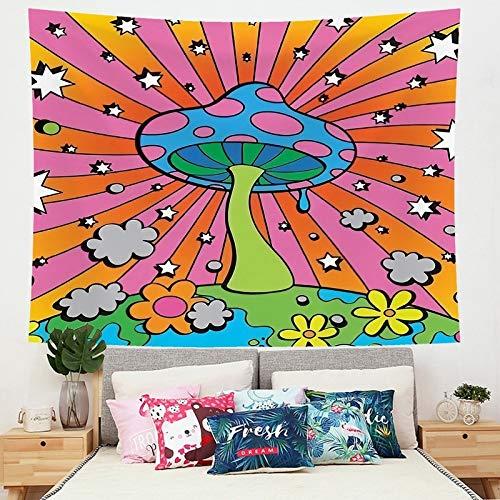 Tapiz de hongos psicodélicos decoración del hogar revestimiento de paredes dormitorio fondo de cabecera revestimiento de paredes revestimiento de paredes a1 73x95 cm