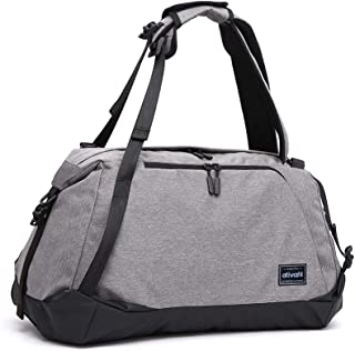 Ativafit Sport Gym Bag Sports Duffel Bag Luggage Bag Lightweight Travel Backpack Weekender Bag With Wet Pocket & Shoes Compartment for Men and Women Grey