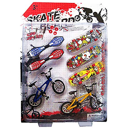 Forart Mini Finger Skateboards Bicicletas Finger Toys Skateboards Educativos Finger Toys Regalo para niños adultos (color aleatorio)