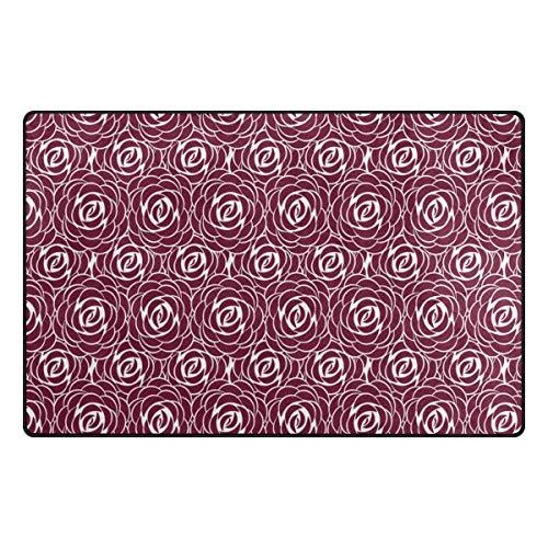 FANTAZIO Accessoires de Tapis Motif Roses abstraites pour Coins et Bords Anti-bouclage Idéal pour empêcher Les Tapis de Se Replier 78,7 x 50,8 cm, Polyester, 1, 60 x 39 inch