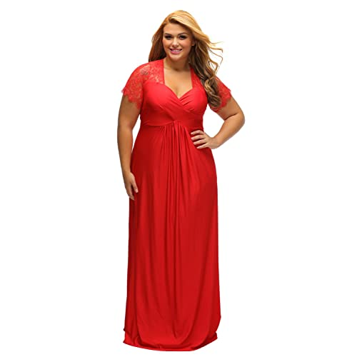 Plus Size Red Formal Gowns: Amazon.com