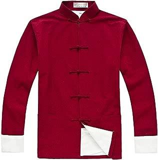 ZooBoo Men's Cotton Kung Fu Coats Tang Suit Long-Sleeved Jackets