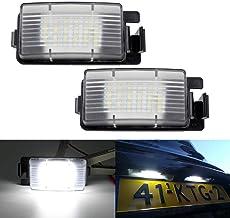 GOFORJUMP 2 Unids Blanco Coche LED Matrícula Placa de Reemplazo de Luz Placa de la Placa para N/issan 350Z 370Z GTR para I/nfiniti G25 G35 G37