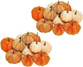 NC 24x Abóboras de Veludo Macio de Halloween Feriado Colheita Outono Decoração de Adereços para Casa