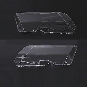 Cubierta de pl/ástico para lente de faro delantero 2 unidades para BMW E46 SP-Auto