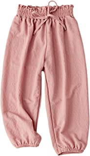 BINBOY Baby Boys and Girls Harem Pants Soft Pants Trousers for Kids 3-7years