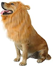 royalwise Lion Mane Costumes Dog Wig Lion Hair Halloween Costume Soft Touch Comfortable Fancy Hair Pet Apparel Cosplay for Large Dogs …