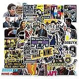 LVLUO Serie TV Brooklyn Nine-Nine Adesivi per cancelleria Fai da Te Decal Pegatina Moto Skateboard Helmet Sticker 50Pcs