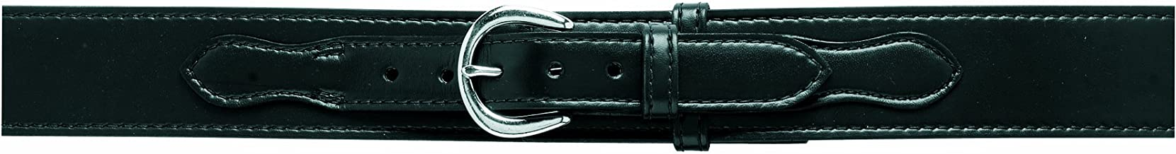 Safariland 146V Border Patrol, Style Duty Belt, Lined with Velcro (Hook), Black, Plain with Brass Buckle for 34-Inch Waist