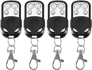 Remote Control Key Fob, 4pcs 4 Buttons Universal Cloning Wireless Remote Control Key Fob 433mhz for Car Garage Door Gate Skylight