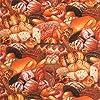 COTTON GARDEN 【Foods&Kitchen柄】パン フード 食べ物柄 50×110cm パッチワーク 生地 キルト 布 USA アメリカ輸入生地 綿100% パン柄