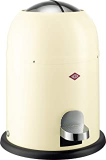 Wesco Single Master - German Designed -  Small Step Trash Can, Powder Coated Ssteel, 2.4 Gallon / 9 L, Almond