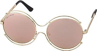Sky Vision Panto Sunglasses for Women, Purple Lens, 48907