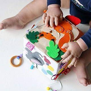 Baby Mobile Toys Felt Stuffed Animals Nursery Decor Play Set Forest Woodland Rattles Gym Play Nursery decor Ornaments Baby Shower Gift Educational Sensory Toys Crib Toddler