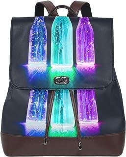 FAJRO Mochila de Cuero con Tres Botellas iluminadas
