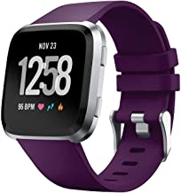 TERSELY Band Strap for Fitbit Versa/Versa Lite, Classic Soft TPU Silicone Sports Adjustable Bands Fitness Sport Bracelet Strap for Fitbit Versa/Lite Tracker