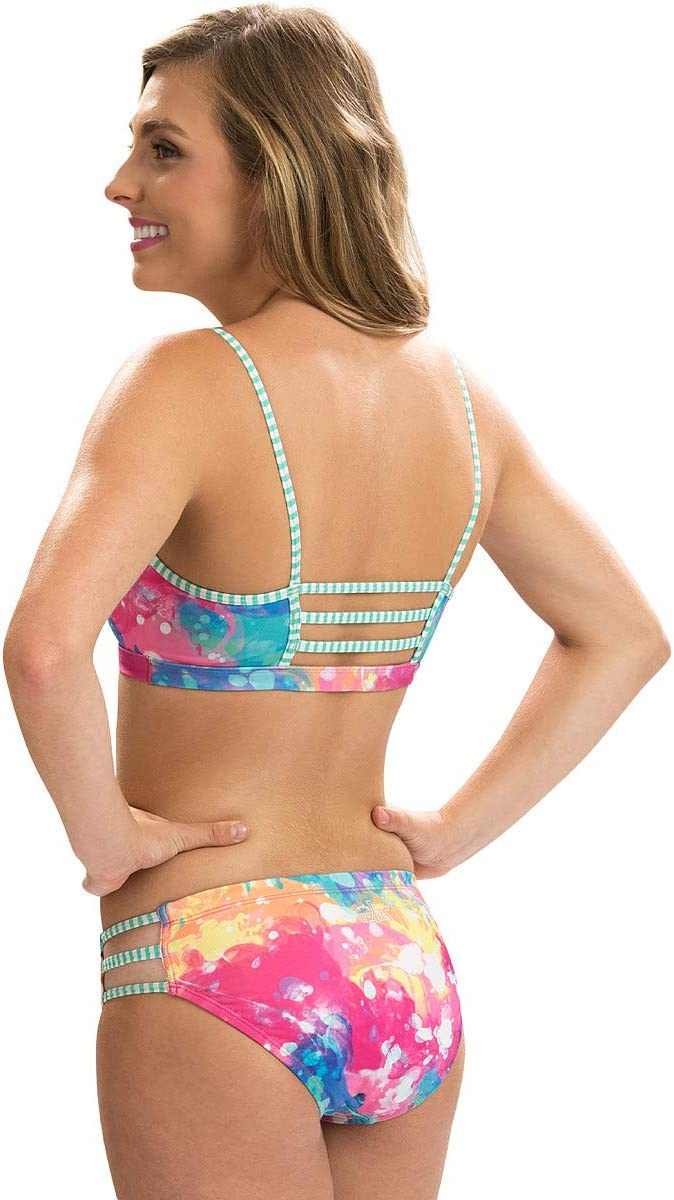 6501L MIXED BRAND CODES Dolfin Womens Uglies Strappy Two-Piece Swimsuit