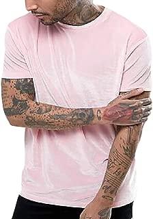 Men's Fashion Casual Short-Sleeved T-Shirt Velvet Top