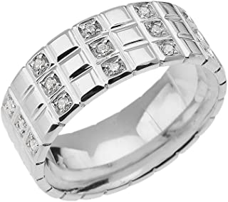 FB Jewels 925 Sterling Silver 3mm Mens Wedding Flat Ring Band Size 15