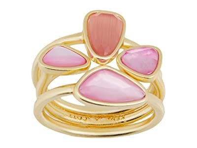 Kendra Scott Ivy Ring Set (Gold Deep Blush Mix) Ring