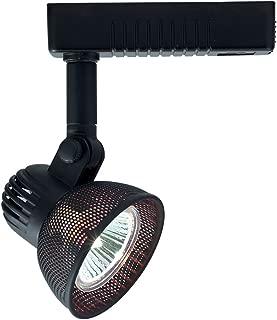 Jesco Lighting HLV10450BK Mini Deco 104 Series Low Voltage Track Light Fixture, 50 Watt, Black Finish
