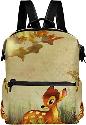5c113eb484 Backpack Fall Bambi Autumn Flowers Mens Laptop Backpacks Hiking Bag School  Daypack