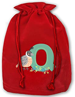 Allgobee Large Christmas Bag Cartoon Turkey Letter Q Velour Santa Sack Drawstring Bags Jewelry Pouches