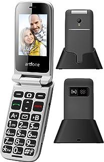 artfone Big Button Flip Phone for Elderly, 3G Unlocked Senior Flip Phone, Large Volume, Tmobile Phone with Radio, SOS, Tor...