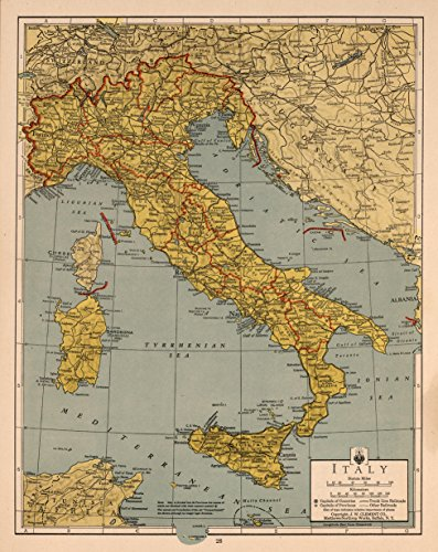 "Map Poster - Italy 16"" x 20"""