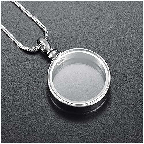 Wxcvz Collar De Joyería De Cremación Memorial Al por Mayor De La Joyería De La Cremación del Collar De La Urna del Medallón