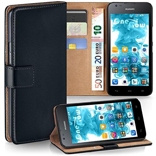 MoEx® Cover a Libretto Compatibile con Huawei Y550 | Fessura Carta + Soldi, Supporto, Nero