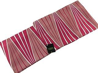 ナカノヒロミチ 袷(あわせ) 着物 洗えるきもの 小紋 M?Lサイズ nk-90 赤 モダン縞 (Lサイズ)