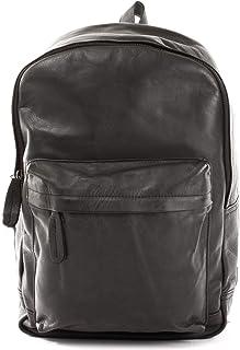 LECONI Rucksack Vintage-Look für Damen  Herren Wanderrucksack Rindsleder praktischer Lederrucksack backpack DIN A4 Retro Freizeitrucksack 30x40x12cm LE1009