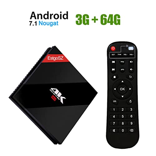 EstgoSZ Smart TV Box 3GB / 64 GB Android 7.1 OS,Amlogic S912 Octa Core