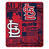 MLB St. Louis Cardinals Strength Fleece Throw Blanket 50-inch by 60-inch, Red