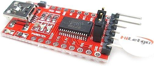 Best HiLetgo FT232RL FTDI Mini USB to TTL Serial Converter Adapter Module 3.3V 5.5V FT232R Breakout FT232RL USB to Serial Mini USB to TTL Adapter Board for Arduino Review