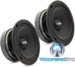 "Sundown Audio SXMP-6.5 4-OHM 200 Watts RMS 6.5"" 4 Ohm Midrange Speakers (Pair)"
