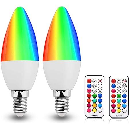1-10PACK RGB E14 E12 Colour Changing LED Light Bulbs Candelabra Remote Lamp 3W