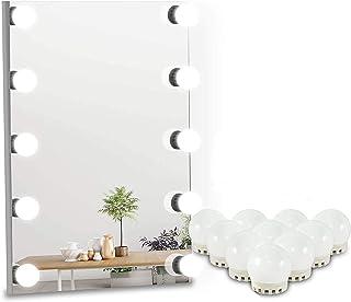findyouled LED Vanity Mirror Lights, USB Powered Bathroom Lighting Kit,10 Dimmable Bulbs LED Makeup Light