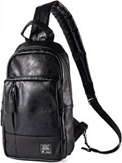 ワンショルダーバッグ メンズ 斜めがけ 防水 レザー iPad対応 軽量 黒 Tanoshia
