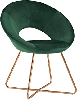 Accent Chair for Living Room, Teal Modern Sofa Seat Single Recliner Chair Velvet Padded Seat Easy Assembly 1pcs