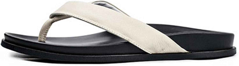 Genuine Leather Slippers Sandals Men's Summer Leisure shoes Sneakers Flip Flops Beach Outdoor Casul