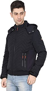 HIVER Men's Nylon Xtreme2.0 Jacket 100% Water Proof Full-Sleeved Winter Jacket with Hood for Minus Degree Upto -10 Degree ...