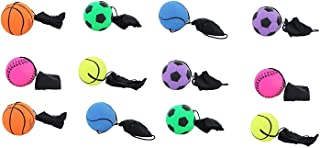 AJ Toys & Games Bungee Cord Ball 12 Pc Wrist Stringed Rubber Bungee Ball (Colors & Styles Will Vary)