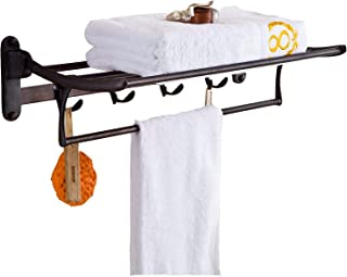 bathroom shelf with towel bar oil rubbed bronze
