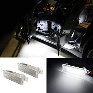 iJDMTOY (2) 18-SMD LED Side Door Courtesy Lamp Assy For BMW 1 3 5 6 7 Series Z4 X3 X5 X6, OEM Replacement, Powered by Xenon White LED Lights & CAN-bus Error Free