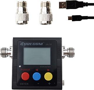 Mcbazel Surecom SW-102 Digital VHF/UHF 125-525Mhz Antenna Power & SWR Meter with Ground Plate